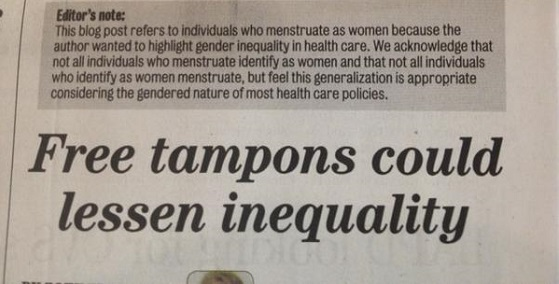 Why not free-range tampons?